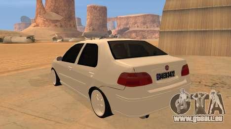 Fiat Albea pour GTA San Andreas sur la vue arrière gauche