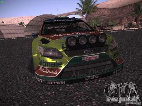 Ford Focus RS WRC 2010 pour GTA San Andreas vue de dessus