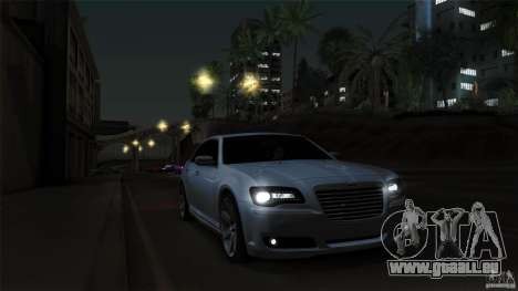 Chrysler 300C V8 Hemi Sedan 2011 pour GTA San Andreas vue de dessus