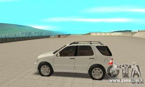 Mercedes-Benz ML 430 pour GTA San Andreas laissé vue