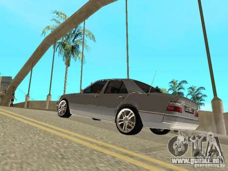 Mercedes-Benz W124 E500 pour GTA San Andreas vue intérieure