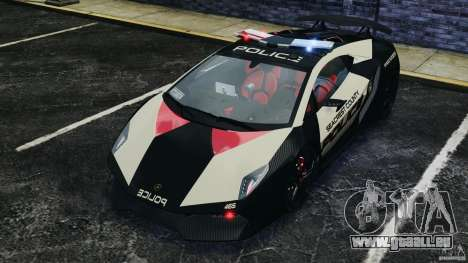Lamborghini Sesto Elemento 2011 Police v1.0 RIV für GTA 4 Unteransicht
