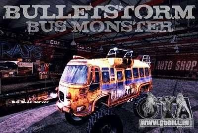 Bullet Storm Bus für GTA San Andreas rechten Ansicht