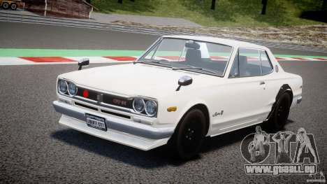 Nissan Skyline 2000 GT-R für GTA 4 obere Ansicht