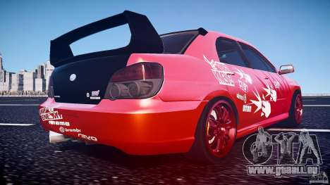 Subaru Impreza WRX STI pour GTA 4 est une vue de dessous