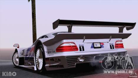 Mercedes-Benz CLK GTR Road Carbon Spoiler pour GTA San Andreas vue de dessus
