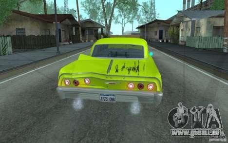Chevrolet Impala SS 1964 pour GTA San Andreas vue de côté