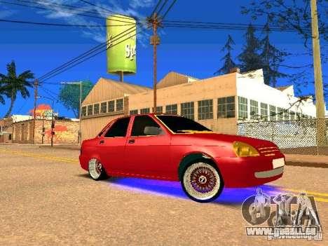 LADA 2170 Priora Gold Edition pour GTA San Andreas vue de dessus