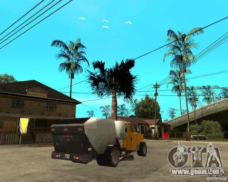 Camion de nettoyage pour GTA San Andreas sur la vue arrière gauche