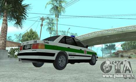 Audi 100 C4 (Cop) für GTA San Andreas linke Ansicht