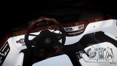 Mercedes-Benz S600 w221 pour GTA 4 Vue arrière