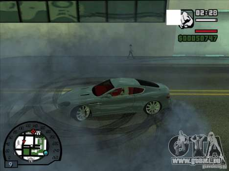 Fumée apparaissent sous les roues, comme dans NF pour GTA San Andreas
