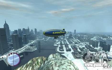 Dirigeable pour GTA 4 vue de dessus