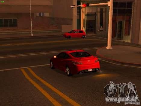 Hyundai Genesis Coupé 3.8 piste v1.0 pour GTA San Andreas vue intérieure