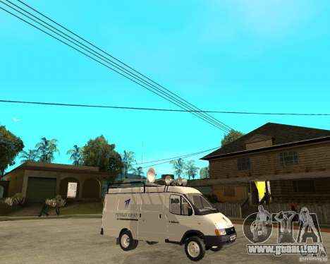 Canal de nouvelles de Gazelle 2705 pour GTA San Andreas vue de droite