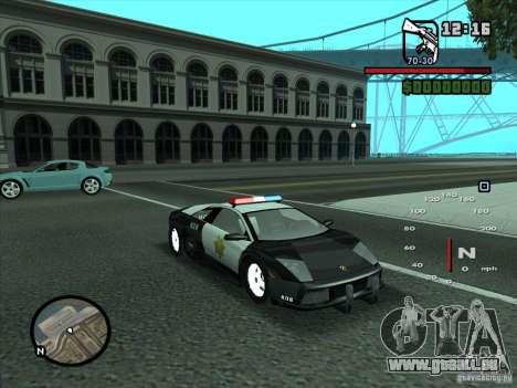 Lamborghini Murcielago Police für GTA San Andreas Seitenansicht