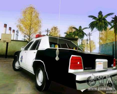Ford Crown Victoria LTD 1991 SFPD für GTA San Andreas zurück linke Ansicht