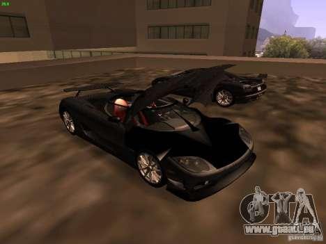 Koenigsegg CCXR Edition für GTA San Andreas Innenansicht