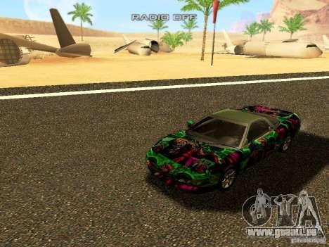 Honda NSX Custom pour GTA San Andreas vue arrière