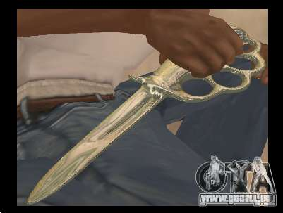 Couteau poing chrome pour GTA San Andreas