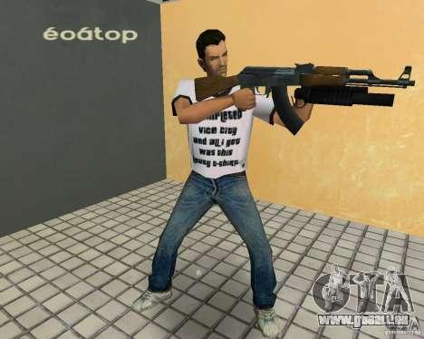AK-47 mit einem Grenade Launcher М203 für GTA Vice City Screenshot her