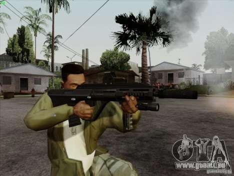 AUG-A3 Special Ops Style pour GTA San Andreas cinquième écran