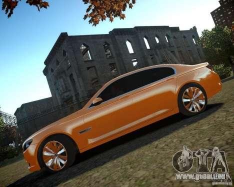BMW 750Li  2010 für GTA 4 Innenansicht