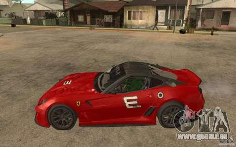 Ferrari 599xx 2010 für GTA San Andreas linke Ansicht