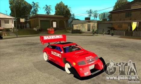Suzuki Escudo Pikes Peak V2.0 pour GTA San Andreas vue arrière