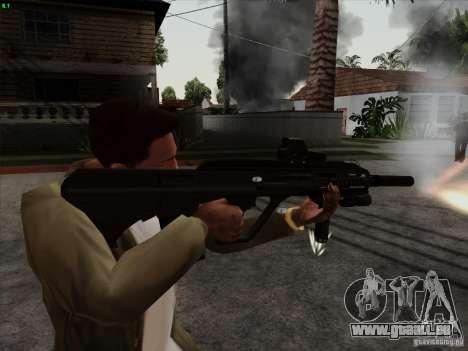 AUG-A3 Special Ops Style pour GTA San Andreas deuxième écran