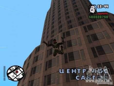 Crysis Nano Suit für GTA San Andreas achten Screenshot