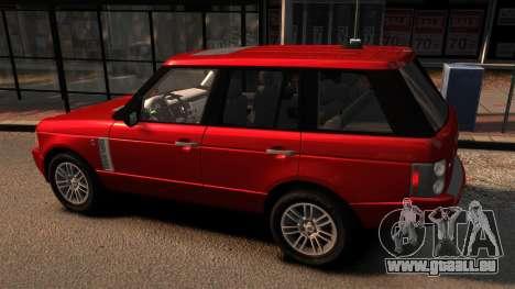 Range Rover TDV8 Vogue pour GTA 4 est une gauche