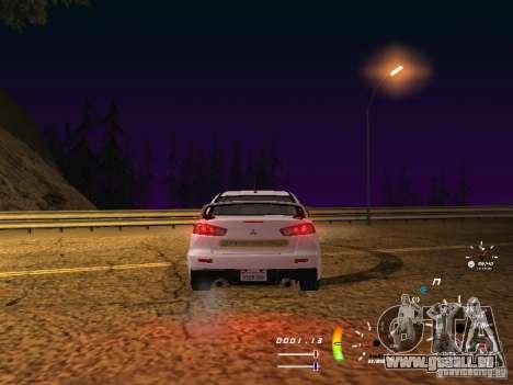Mitsubishi Lancer Evolution X DPS pour GTA San Andreas vue de droite