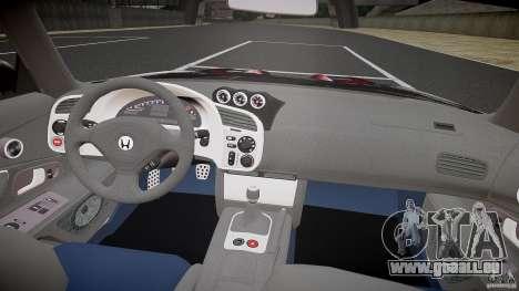 Honda S2000 Tuning 2002 peau 2 de recuit pour GTA 4 est un droit