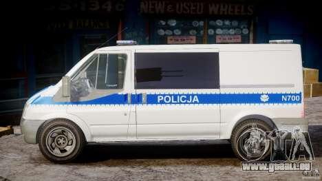 Ford Transit Polish Police [ELS] für GTA 4 linke Ansicht