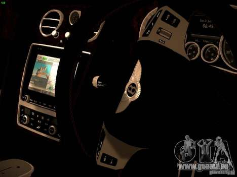 Bentley Continental GT 2011 für GTA San Andreas Innenansicht