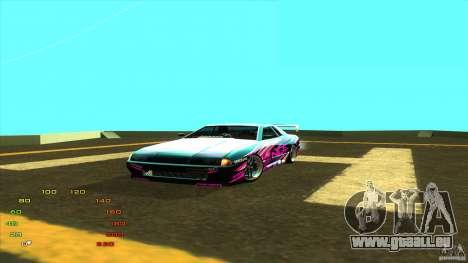 Pack vinyle pour Elegy pour GTA San Andreas quatrième écran