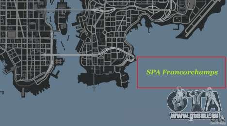 SPA Francorchamps [Beta] pour GTA 4 onzième écran