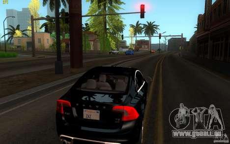 Volvo S60 2011 für GTA San Andreas zurück linke Ansicht