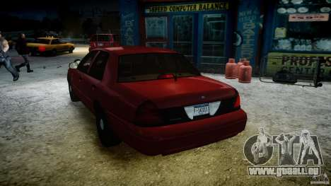 Ford Crown Victoria Detective v4.7 red lights pour GTA 4 Salon