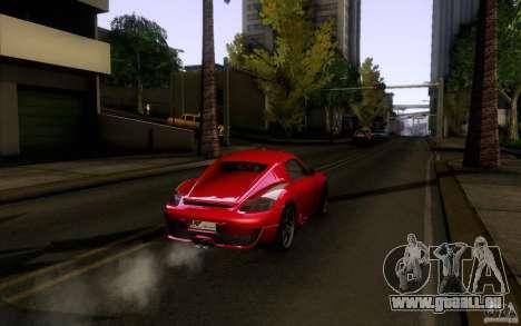 Ruf RK Coupe V1.0 2006 pour GTA San Andreas vue arrière