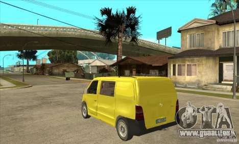 Mercedes-Benz Vito 112CDI für GTA San Andreas zurück linke Ansicht