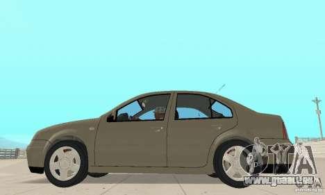 Volkswagen Bora Stock für GTA San Andreas zurück linke Ansicht