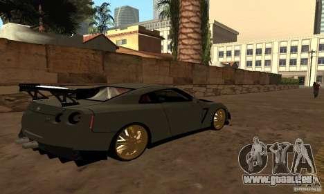 Nissan GTR R35 Tuning pour GTA San Andreas laissé vue