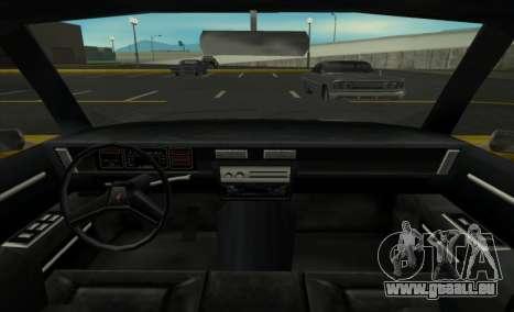 New Regina pour GTA San Andreas sur la vue arrière gauche
