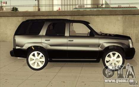 Cadillac Escalade 2004 für GTA San Andreas obere Ansicht