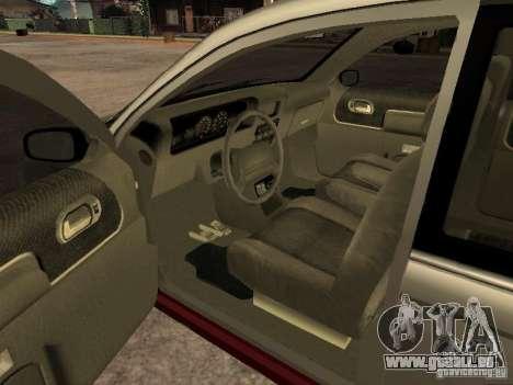 HD Blista pour GTA San Andreas sur la vue arrière gauche