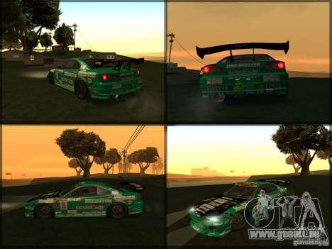 Nissan Silvia S15: Kei Office D1GP pour GTA San Andreas sur la vue arrière gauche