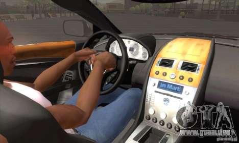 Aston Martin DB9 Female Edition pour GTA San Andreas vue de dessus