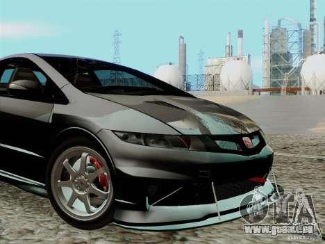 Honda Civic TypeR Mugen 2010 für GTA San Andreas Innenansicht